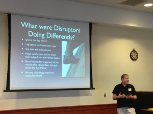 Jay talking about what disruptors are doing differently.