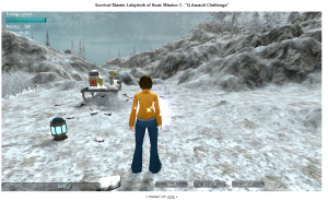 The vast frozen wilderness faces the player as she learns about heat flow formula.