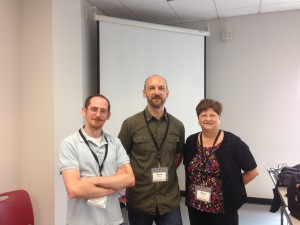 Steve, Stone and Mary pose for an after workshop pic.