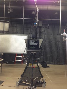 The teleprompter.