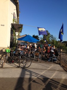 Island Brewing company tucked down a side street, very convenient by bike.