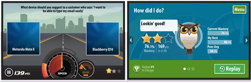 mLevel Game Screens