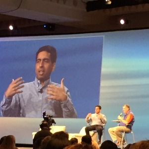 Sal Khan speaking with Elliott Masie at Learning2015.