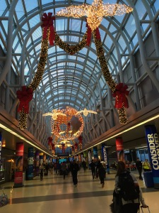 Chicago airport decked out for the holiday season.