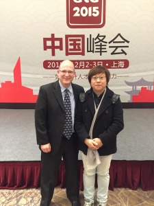 Karl Kapp and Ivy Sun at the ATD China Summit.
